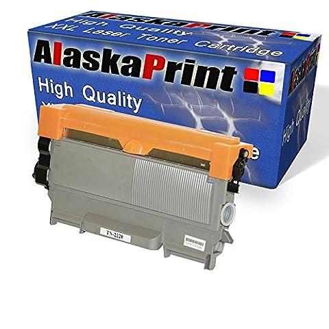 Alaskaprint Premium kompatible Toner als Ersatz für Brother TN-2220 Brother TN2220 TN 2220 / Brother TN-2210 / Brother TN-2010 Brother TN2010 Brother HL2220 HL 2220 XL HL-2240 HL-2240D HL-2240L HL-2250