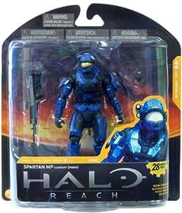 Halo Reach Series 3 Action Figure - Spartan Military Police Custom Male Blue