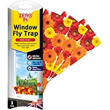 FIXMAN 4er Set Fenster Fliegenfänger Fliegenfalle Leimfalle Insektenfalle