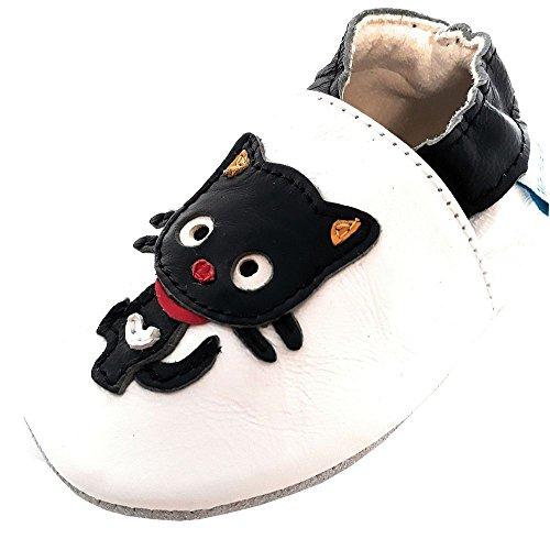 MiniFeet Premium Weiche Leder Babyschuhe, Katze 18-24 Monate