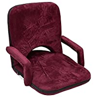 Velvet Camping Chair with Armrest 3 Levels ,Purble