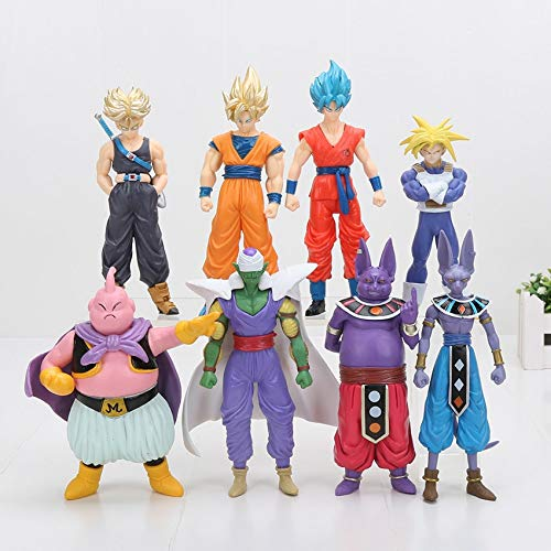 Dragon Ball Z Super Saiyan Goku Badehose Champa Beerus Piccolo Majin Buu - Set 8 Figuren 13-16 cm / 8 Figuren Set 6