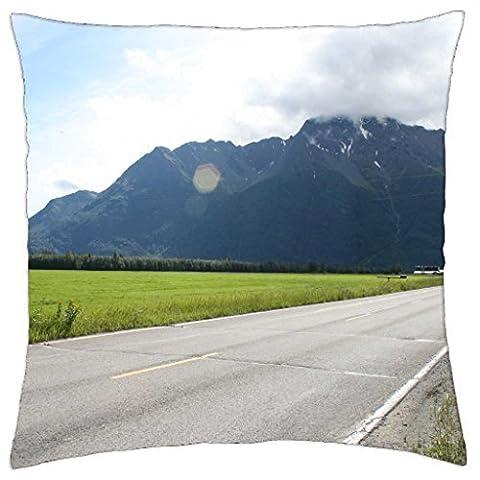 Pioneer Peak Alaska–Überwurf Kissenbezug Fall (18