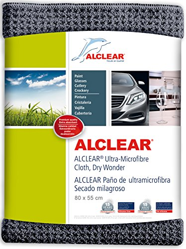 ALCLEAR 820901M Secado Milagroso Paño de Microfibra, 80 x 55 cm, Gris Antracita