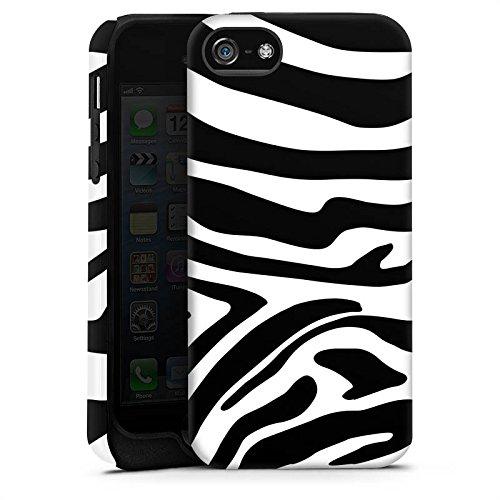 Apple iPhone 6 Plus Silikon Hülle Case Schutzhülle Zebra Animal dschungel Tough Case matt