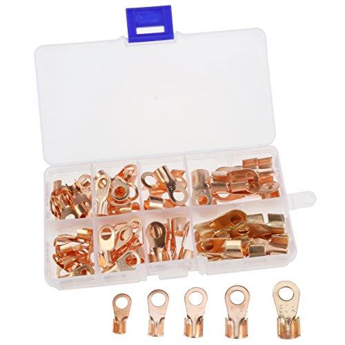 70 stücke Offenen Barrel Draht Crimp Stecker Kupfer Ring Lug Terminals Sortiment Kit OT 10A 20A 30A 40A 50A (Typ Transformator Stecker)
