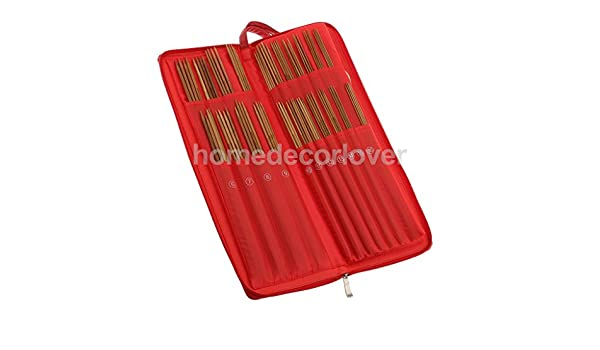 133pcs Knitting Needles Set Kit Accessory with Red Case for DIY Sewing Craft