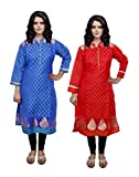 Indistar Women Stitched Kurti Combo 2