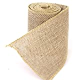 WeiMay Natural Jute Burlap Craft Ribbon Roll Vintage DIY Geschenk Wrapping Wedding party Christmas Zuhause decor 3m x 10cm.
