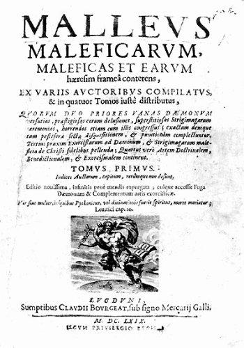 Malleus Maleficarum (El martillo de los brujos) por JACOBUS SPRENGER