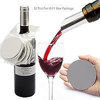 Juego Yobansa de 12 discos para verter vino sin goteos, Style01
