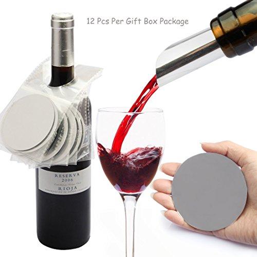 Yobansa Set von 12Tropfen-Stopper Wein Ausgießer Scheiben., Style01