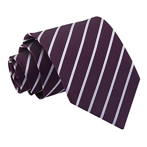Cravate et Rouge à Rayures Obliques Violet et Argent