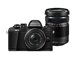 Olympus Om-d E-m10 Mark Ii Compact System Camera - 14-42 Ez Lens + 40-150 Mm R, Black