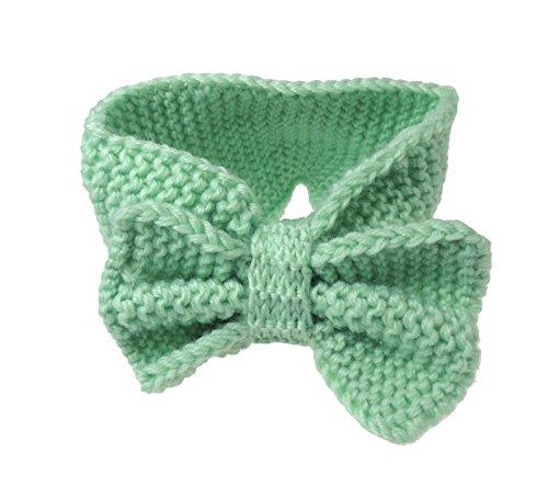 Chaude d'hiver en tricot pour femme Nœud Bandeau pour oreilles Menthe