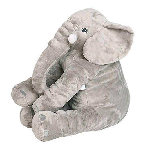 Elefante Peluche Bebe Enorme(60*55cm)con 1 Almohada en Forma de U sin cargo...