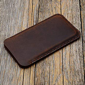 Braune Samsung Galaxy S10+, S9+ Hülle Tasche Cover Leder Etui Case Ledertasche Handyschale Gehäuse Ledertasche Lederetui Lederhülle Handytasche Handysocke Handyhülle (S10 Plus, S9 Plus)