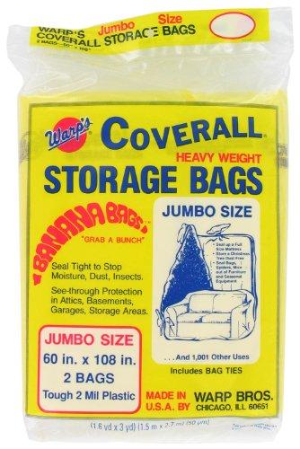 Warp Brothers cb-60Warp 'S Banana Taschen, Kunststoff, 60x 274cm (Pack von 2) (Saver Space Papierkorb)