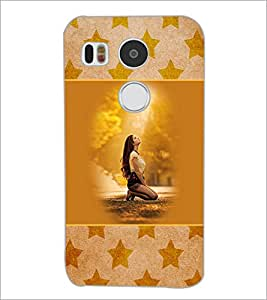 PrintDhaba Praying Girl D-3152 Back Case Cover for LG NEXUS 5X (Multi-Coloured)