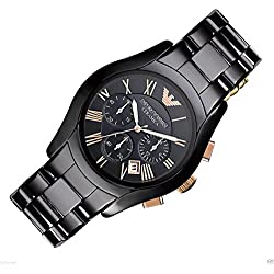 Men's Emporio Armani AR1410 Black Ceramic Quartz Watch