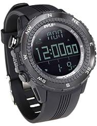 Pyle PSWWM82BK - Reloj deportivo digital multifuncional, color negro