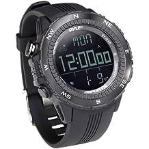 Pyle PSWWM82BK Reloj Deportivo Digital Multifuncional, Unisex, Negro
