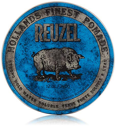 REUZEL Pomade Blue Strong Hold High Sheen, 1er Pack (1 x 340 g)