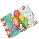 AMDXD Gummi Teppich Bunt Ballon Design Teppiche für Schlafzimmer Wohnzimmer Bunt 60x40CM