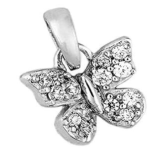 ASS 925 Silber Anhänger Schmetterling mit Zirkonia weiß