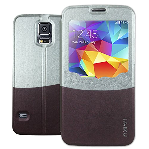 Heartly Designed Premium Luxury Pu Leather Flip Bumper Case Cover For Samsung Galaxy S5 i9600 - Burgundy  available at amazon for Rs.199