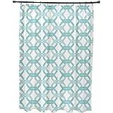 E por diseño todos estamos conectados geométrico impresión cortina de ducha, océano