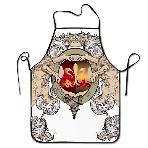 Crown and Lions Deluxe Personalized Kitchen Apron ()