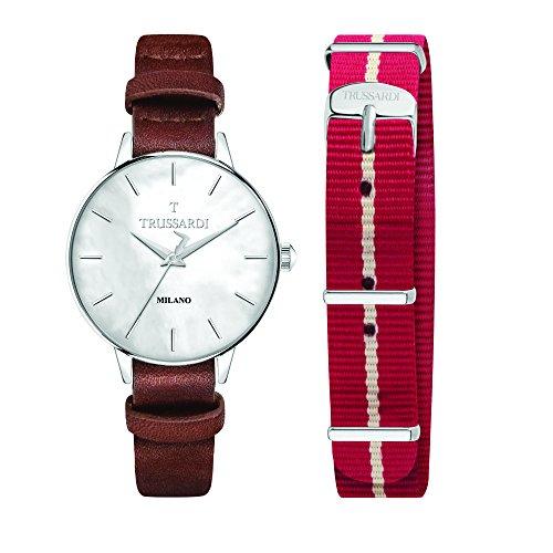 TRUSSARDI Reloj Analógico para Mujer de Cuarzo con Correa en Cuero R2451120505