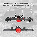 Lukame✯ Nuovo Assale anteriore e posteriore in metallo per Axial-SCX10 D90 90046 90047 1/10 RC Car Accessori per arrampicata auto(Nero)