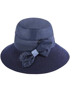 Ombrellone hat holiday sunscreen sunscreen sunscreen SUNCAP donna,testa regolabile circonferenza (56-58cm),blu