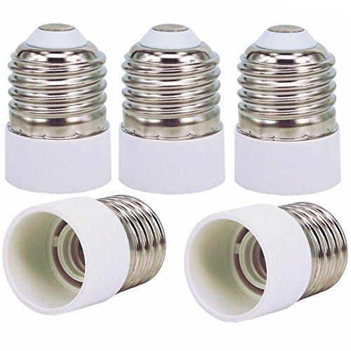 capolida 5pcs Base Ampoules E27 à E14 Culot Lampe Adaptateur Convertisseur Support pour convertisseur, LED culot de lampe adaptateur
