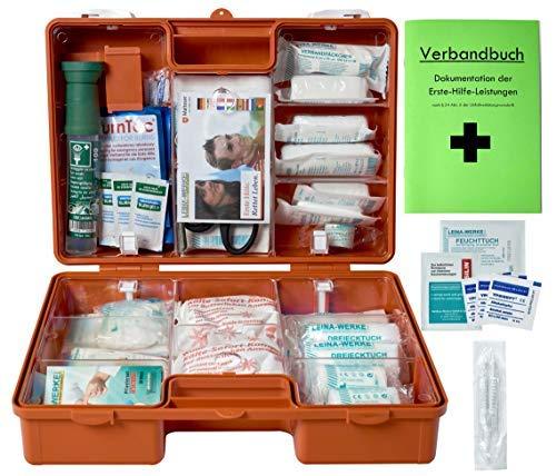 Erste-Hilfe-Koffer Gastro PRO für Betriebe DIN/EN 13157 inkl. Augenspülung + Brandgel + detektierbare Pflaster + Hydrogelverbände (Kantine-set)