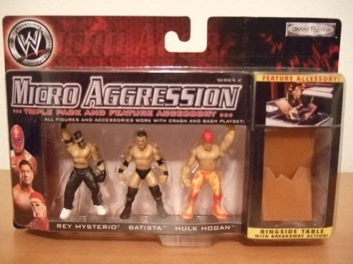 Rey Mysterio Batista Hulk Hogan Figuren Set WWE Micro Aggression Serie 2 (Wwe Batista-figur)