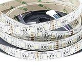 Streifen LED RGBW IP65Strip 5mt SMD 505012V 5M Licht RGBCW selbstklebend 14.4WMT–Licht RGBW