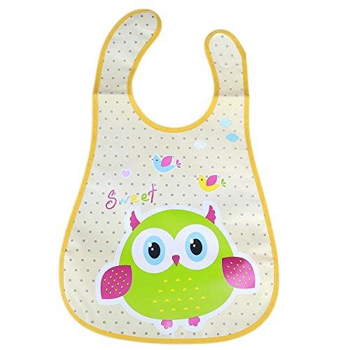 everpert Cartoon Baby Kinder Lätzchen Wasserdicht Speichel Handtuch Fütterung Bandana Schürze (Vogel) -