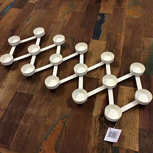 Metall Flexible Teelichthalter für 16 Teelichter weiß gebraucht kaufen  Wird an jeden Ort in Deutschland