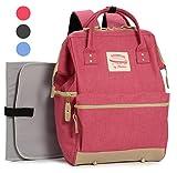 Geräumige Designer Baby-Wickeltasche von Moskka – Reisetasche, Windeltasche mit Befestigung für Kinderwagen, Wickelauflage & Isolierte Tasche, für Mädchen – Rosa