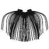 Agoky Damen Modisch Choker aus Samt lange Quasten Kragen Fransen Halskette für Frauen Jugendliche Mädchen Punk Kostüm Accessoires Schwarz One_Size