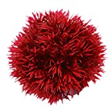 Amesii acquario rotondo palla di erba artificiale in plastica verde acqua pianta Fish Tank Decor Red S