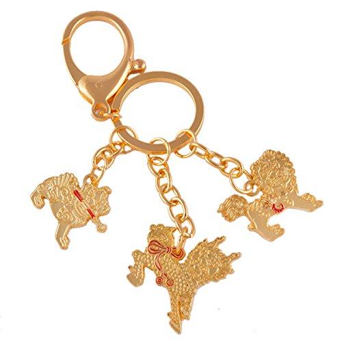 Feng Shui Three Celestial Guardians W Sword, Lasso,hook Key Ring Keychain W Free Mxsabrina Red String Bracelet W1131