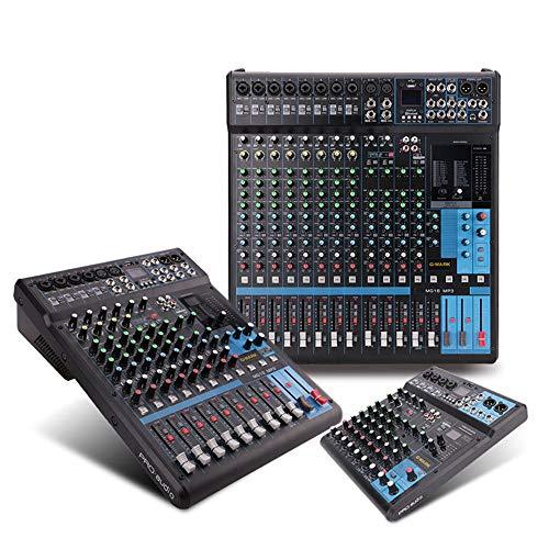 Power Mixer 10/12/16 Channels Mixer SPX Digitaler Effekt Dual Display Mit Group Reverb Mixer Mit Bluetooth USB Webcast Karaoke Song Mixer Professionel