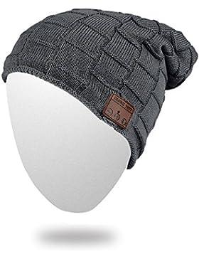 Bluetooth inalámbrica Bluetooth gorro de lana sombrero de punto gorro de música Cap auriculares auricular con...