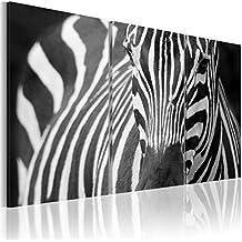 FORMATO GRANDE + Impresion en calidad fotografica + 3 partes + CEBRA + cuadro 030216-14 + 120x80 cm +++ GRAN VARIEDAD DE CUADROS Y IMPRESOS ARTÍSTICOS EN NUESTRA TIENDA VIRTUAL +++