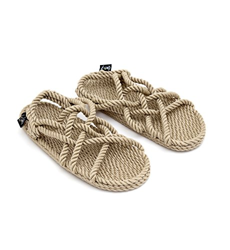 Nomadics JC Unisex-Erwachsene Sandale aus Seil Camel, 39