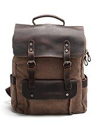 Preisvergleich für Neu Damen Vintage Canvas Leder Rucksack für Outdoor Sports Casul VINTAGE Unitasche Studententasche Schultasche...
